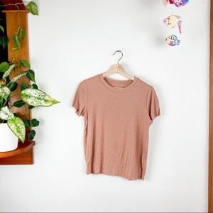 Aerie Real Soft Short Sleeve Shirt Distressed M